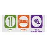 Eat Sleep Play French Horn Poster