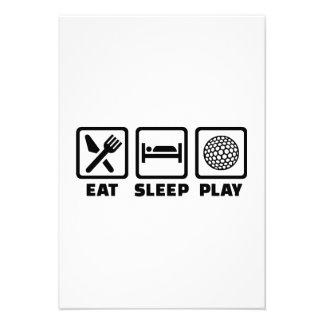 Eat Sleep Play Golf Invite