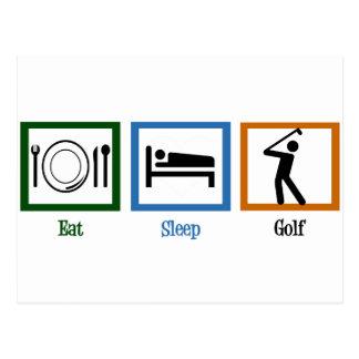 Eat Sleep Play Golf Postcard