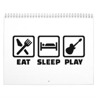 Eat Sleep Play Guitar Calendars