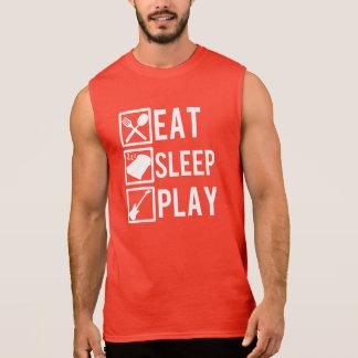 Eat Sleep Play Guitar funny men's tank top