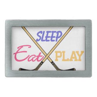 Eat Sleep Play Hockey Belt Buckles