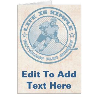 Eat, Sleep, Play Hockey Card