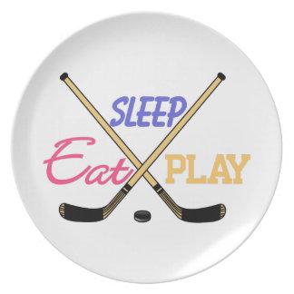 Eat Sleep Play Hockey Plate