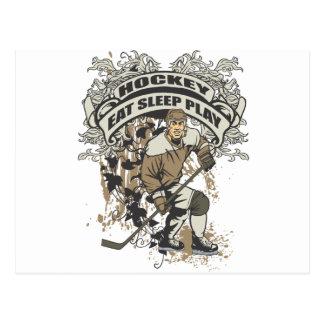 Eat, Sleep, Play Hockey Postcard