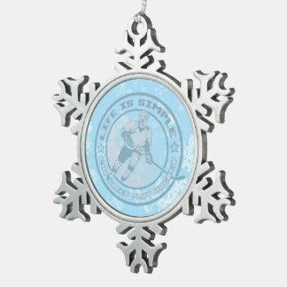 Eat, Sleep, Play Hockey Tree Snowflake Ornament