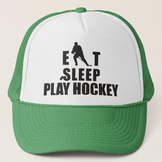 Eat Sleep Play Hockey Trucker Hat