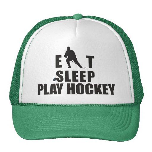 Eat Sleep Play Hockey Trucker Hats