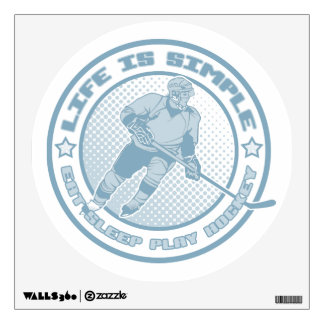 Eat, Sleep, Play Hockey Wall Decal