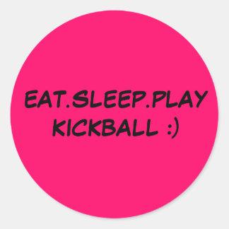 EAT.SLEEP.PLAY KICKBALL:) pegatina