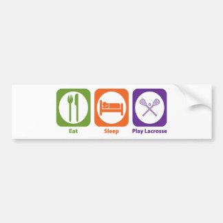 Eat Sleep Play Lacrosse Car Bumper Sticker