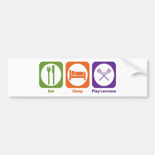 Eat Sleep Play Lacrosse Bumper Stickers