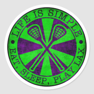 Eat, Sleep, Play Lacrosse LAX Classic Round Sticker