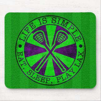 Eat, Sleep, Play Lacrosse LAX Mouse Pad