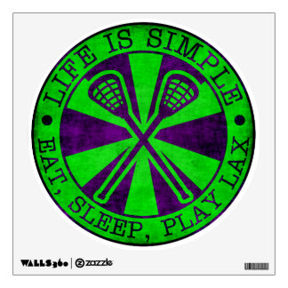 Eat, Sleep, Play Lacrosse LAX Wall Decals
