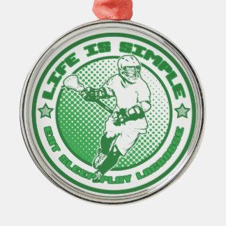 Eat, Sleep, Play Lacrosse Ornament