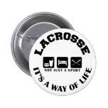 Eat Sleep Play Lacrosse Pins