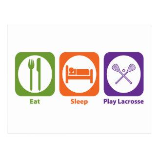 Eat Sleep Play LaCrosse Postales
