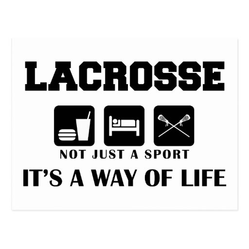 Eat Sleep Play Lacrosse Postcard