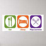 Eat Sleep Play LaCrosse Poster
