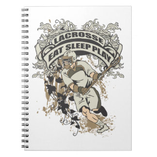Eat, Sleep, Play Lacrosse Spiral Notebook