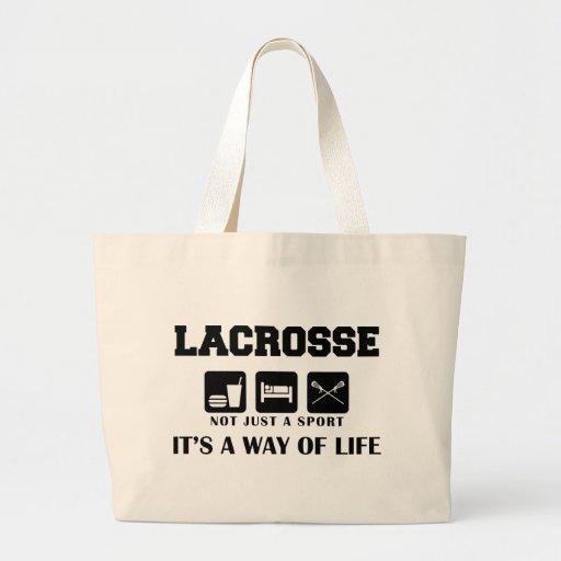 Eat Sleep Play Lacrosse Tote Bags