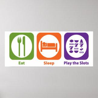 Eat Sleep Play las ranuras Impresiones