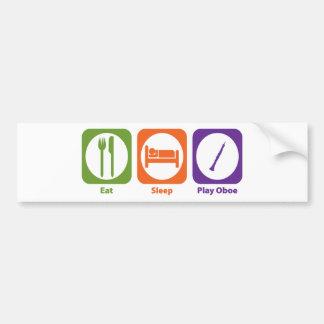 Eat Sleep Play Oboe Bumper Sticker
