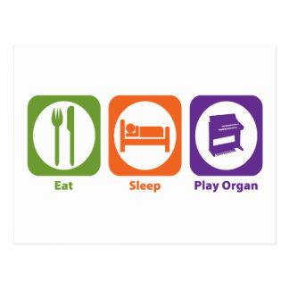 Eat Sleep Play Organ Post Cards