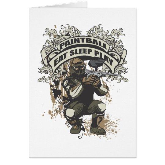 Eat, Sleep, Play Paintball Card
