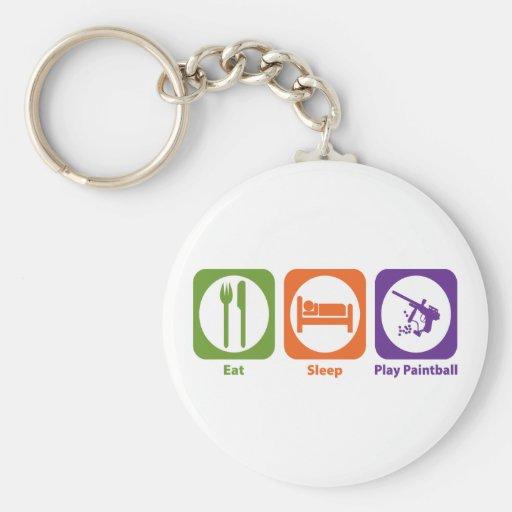 Eat Sleep Play Paintball Key Chain