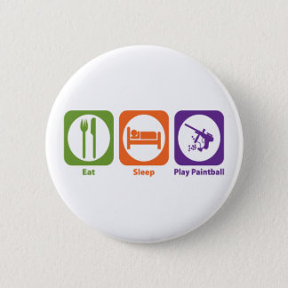 Eat Sleep Play Paintball Pinback Button