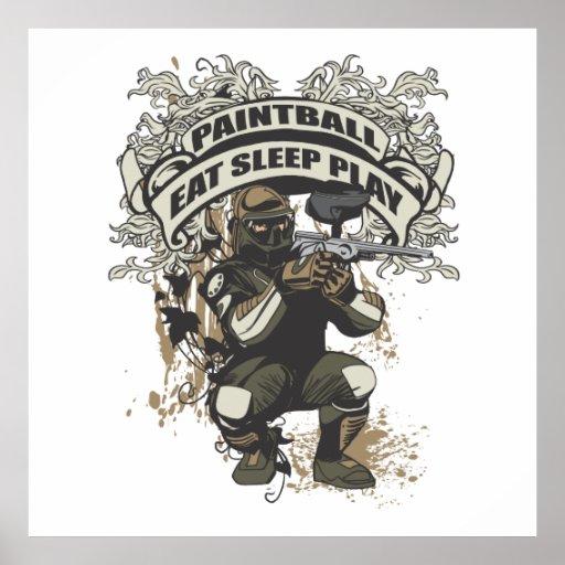 Eat, Sleep, Play Paintball Poster