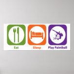 Eat Sleep Play Paintball Posters