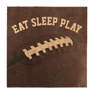Eat Sleep Play Personalized Football Coasters