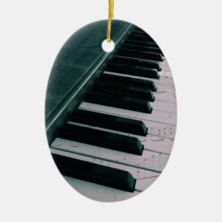 Eat Sleep Play (piano) Adorno Navideño Ovalado De Cerámica