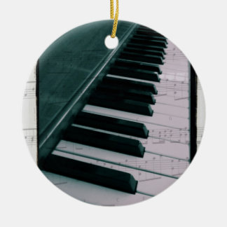Eat Sleep Play (Piano) Ceramic Ornament