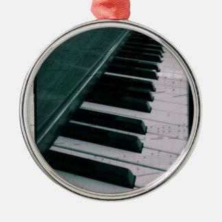Eat Sleep Play (Piano) Metal Ornament