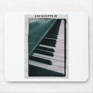Eat Sleep Play (Piano) Mouse Pads