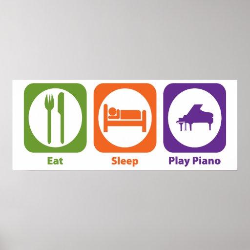 Eat Sleep Play Piano Poster