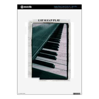 Eat Sleep Play Piano iPad 3 Decal