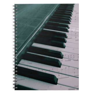 Eat Sleep Play (Piano) Spiral Notebook