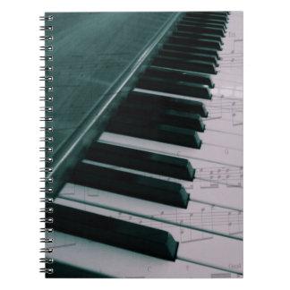 Eat Sleep Play (Piano) Spiral Notebook