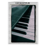 Eat Sleep Play (piano) Tarjeta De Felicitación