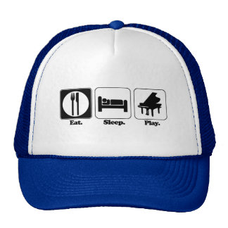 eat sleep play piano trucker hat