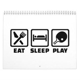Eat Sleep Play Ping Pong Calendar