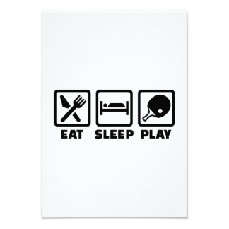 Eat Sleep Play Ping Pong Personalized Invitation