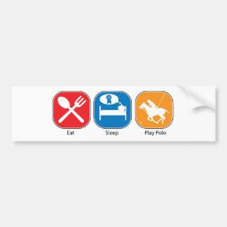 Eat Sleep Play Polo Car Bumper Sticker