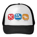 Eat Sleep Play Polo Mesh Hat