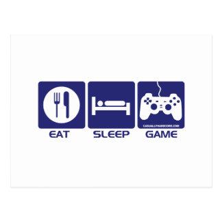 Eat Sleep Play Postcard